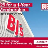 HOT! 55% Off Your BJ's Inner Circle Club Membership!