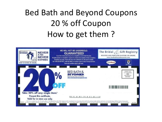 Bed Bath And Beyond Online Coupon