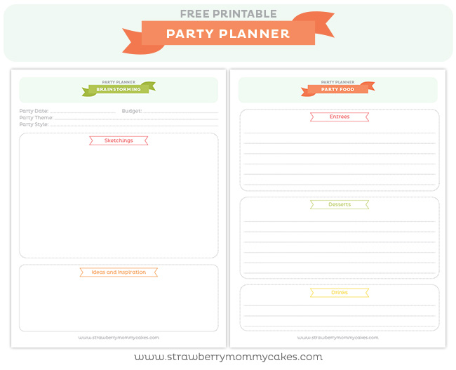graphic relating to Printable Party Planning Checklist titled Free of charge Social gathering Planner Printable - Printable Crush