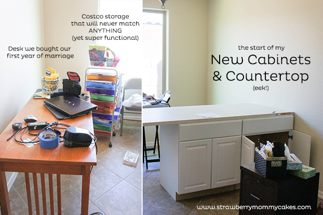 Office Redesign BEFORE on www.strawberrymommycakes.com