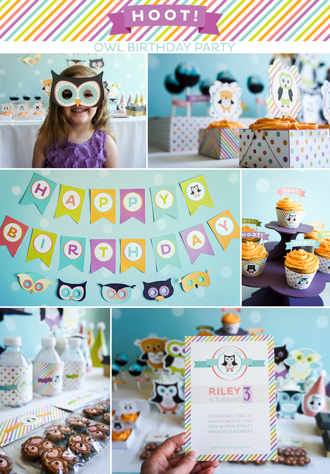 HOOT! Owl Birthday Party on www.strawberrymommycakes.com