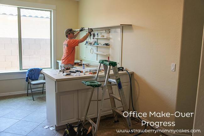 Office Make-Over Progress on www.strawberrymommycakes.com