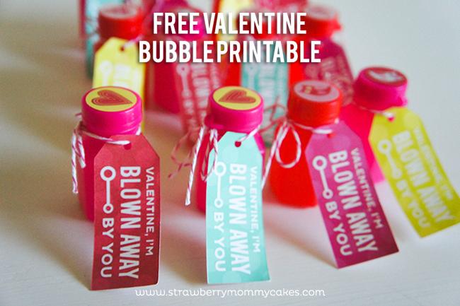"FREE ""Blown Away"" Bubble Valentine Printable on www.strawberrymommycakes.com #valentine #valentinesday"