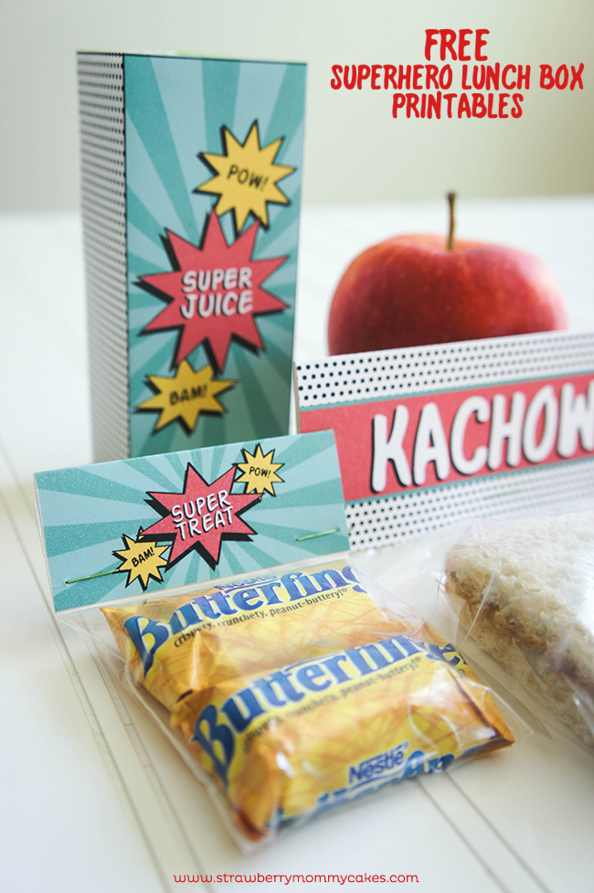 FREE Superhero Lunch Box Printables on www.strawberrymommycakes.com #MyGoodLife  #shop