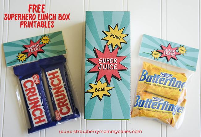 FREE Superhero Lunch Box Printables on www.strawberrymommycakes.com #MyGoodLife  #shop