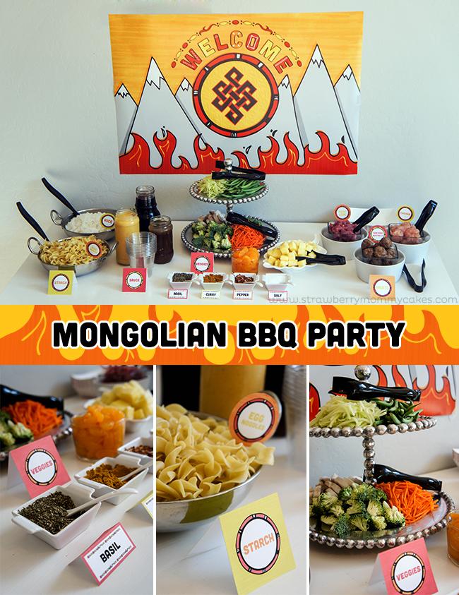 Mongolian BBQ Party made easy with Sam's Club on www.strawberrymommycakes.com @SamsClub #TrySamsClub #shop