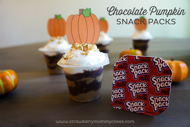 An easy Chocolate Pumpkin Snack Pack Pudding recipe that's perfect for parties!