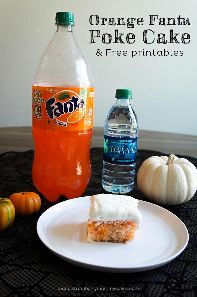 This Orange Fanta Poke Cake is the perfect Halloween treat!  #SpookySnacks #shop