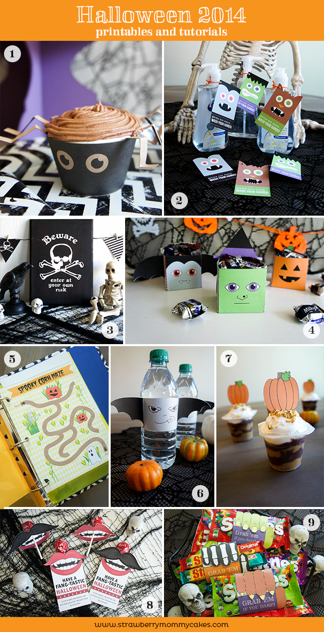 Halloween 2014 Printables and Tutorials