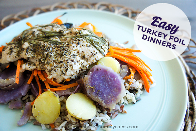 Easy Turkey Foil Dinners- a great alternative to a traditional Thanksgiving Dinner!