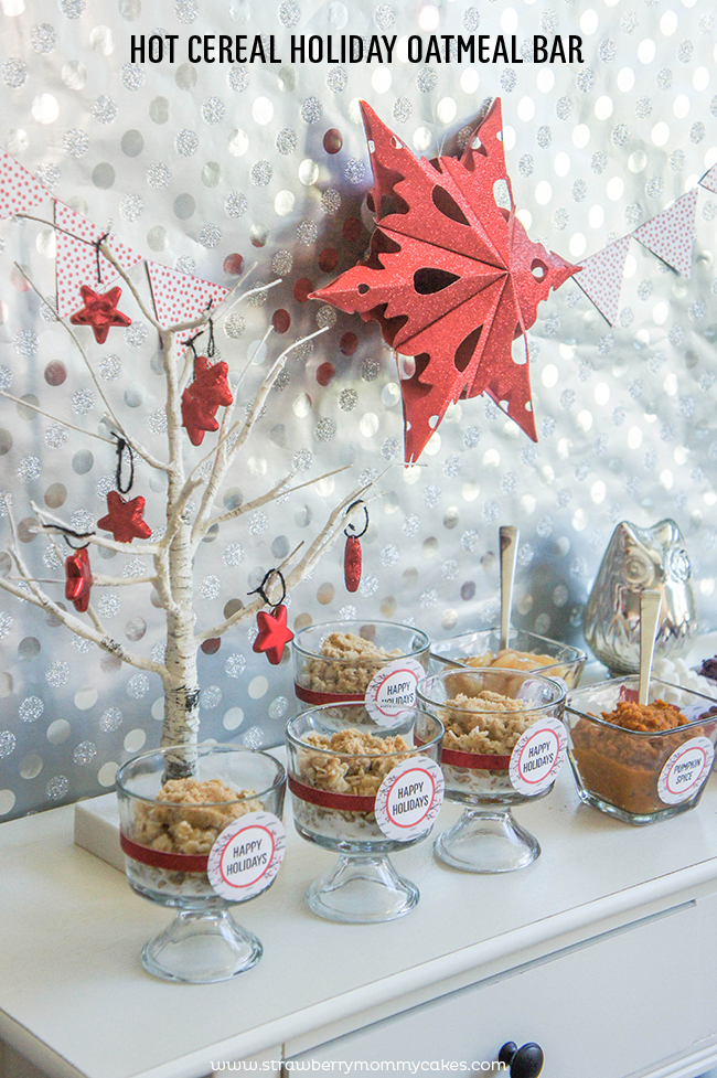 Hot Cereal Holiday Oatmeal Bar