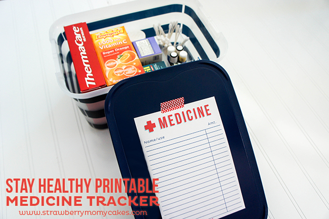 Stay Healthy with my FREE Medicine Tracker Printable