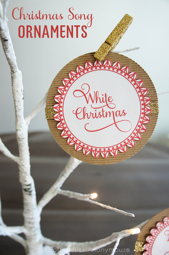 Christmas Song Ornaments