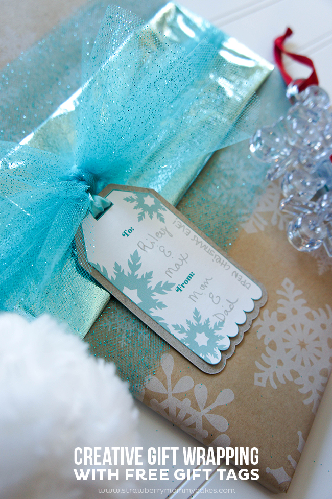 Creative Gift Wrapping with FREE Gift Tags