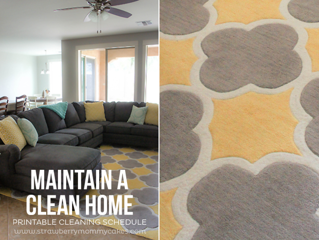 Living room collage with brown couch and rug