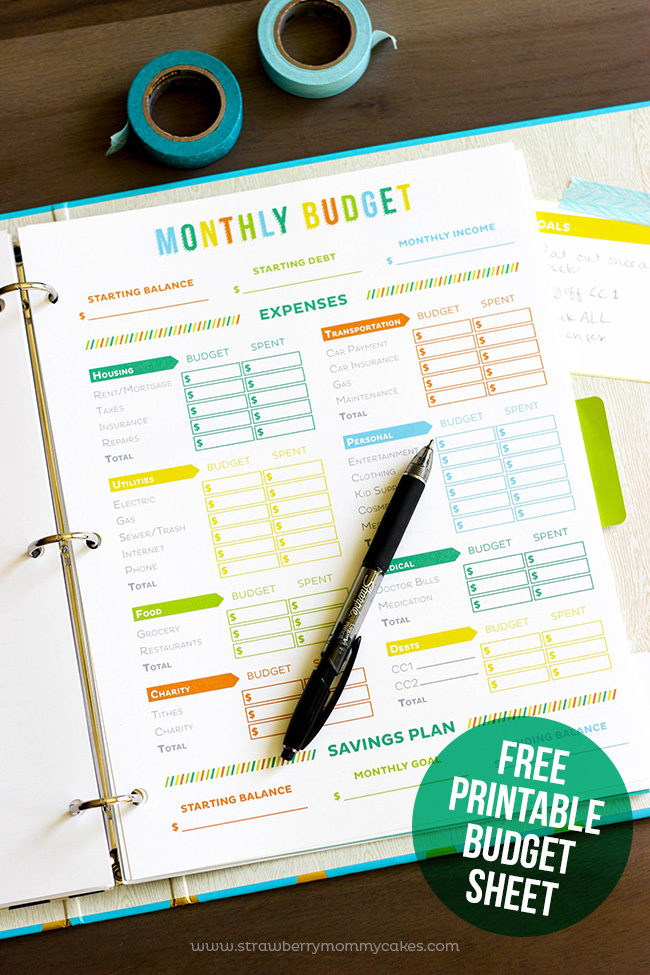 picture about Happy Planner Budget Printable identified as No cost Printable Price range Sheet - Printable Crush