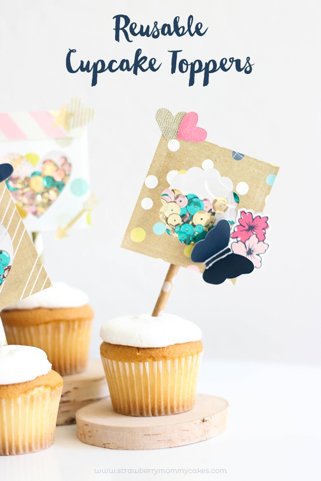 How to Make Reuseable Cupcake Toppers
