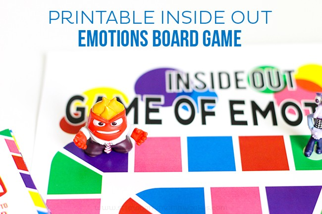 Printable Inside Out Emotions Board Game