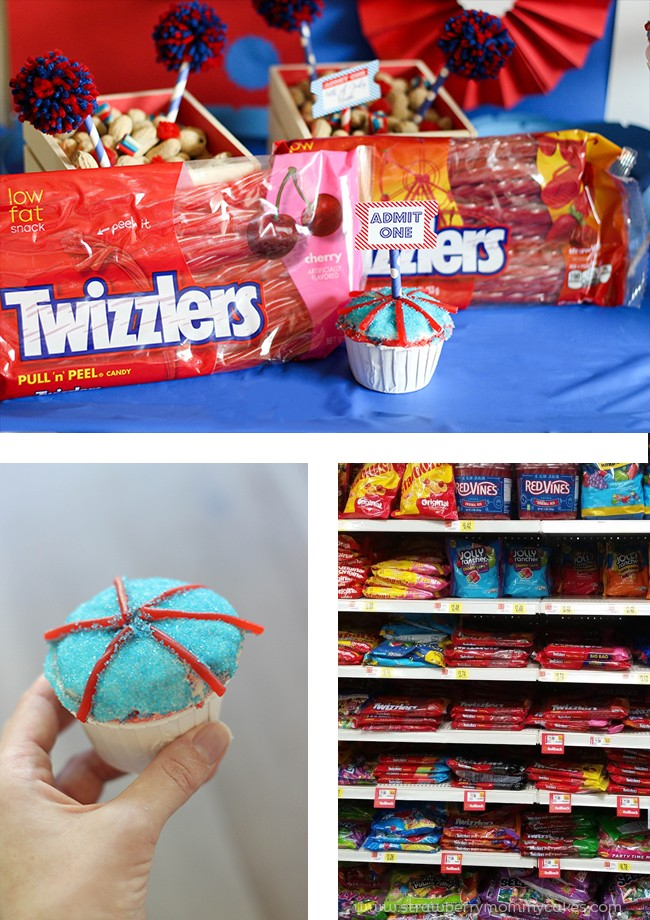 Enjoy a fun Twizzler filled 4th of July Carnival Party!