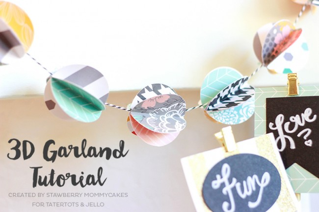 3D Circle Garland Tutorial