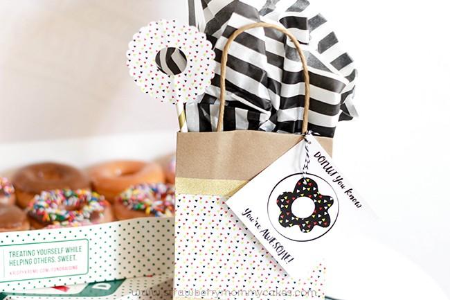 Free Printable Donut Gift Tags