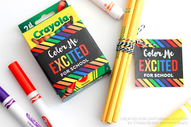 "Back to School ""Color Me Excited"" Printables"