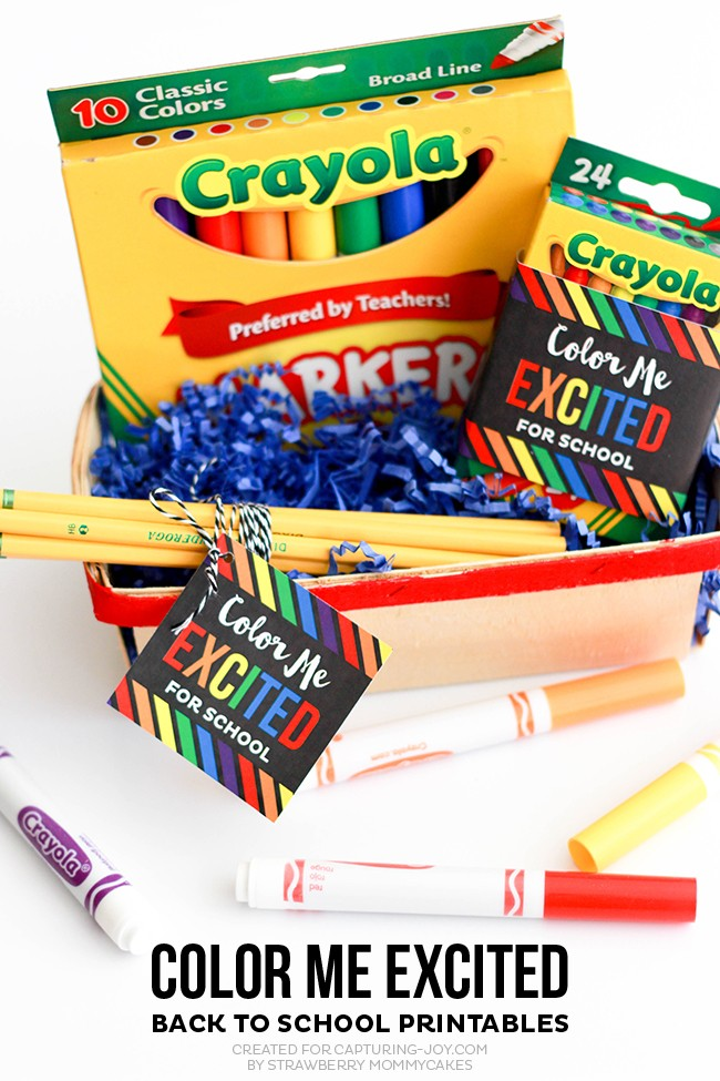 """Back to School """"Color Me Excited"""" Printables"""