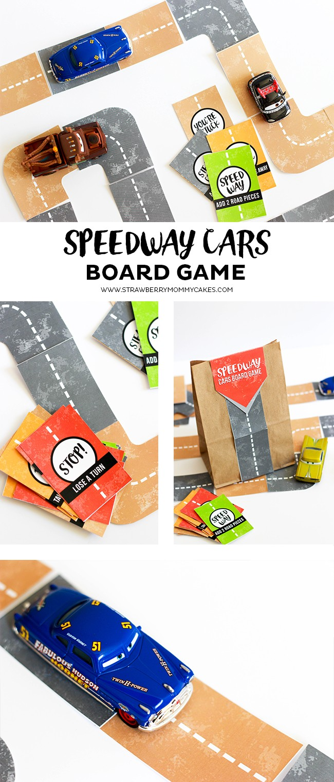 Your kids will love playing this free printable Speedway Cars Board Game!