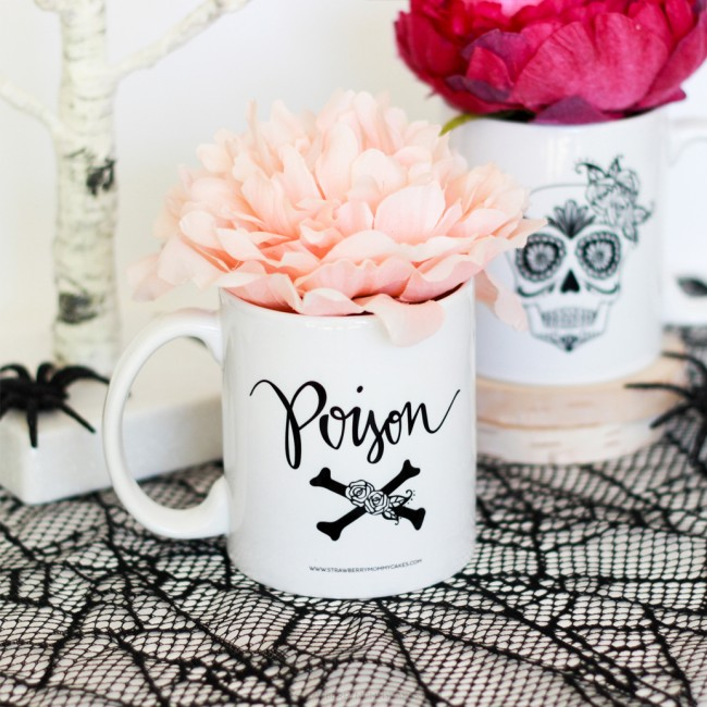 Make a Scary treat with these Dia De Los Muertos Cake Mugs