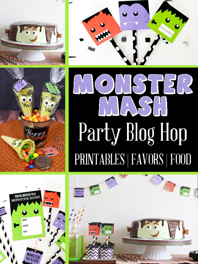 Download these Monster Mash FREE Halloween Party Printables and get other ideas for the perfect Halloween Party!