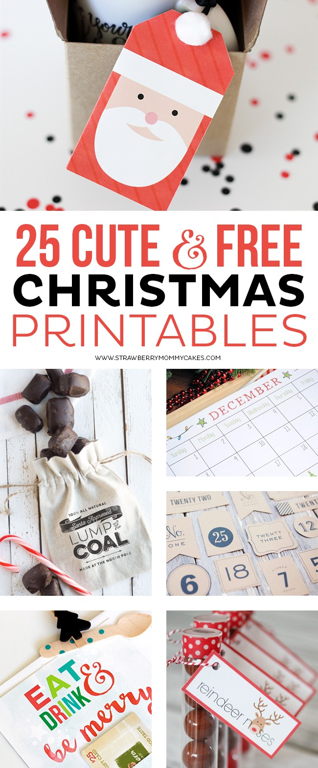 Check out 25 Cute and FREE Christmas Printables!