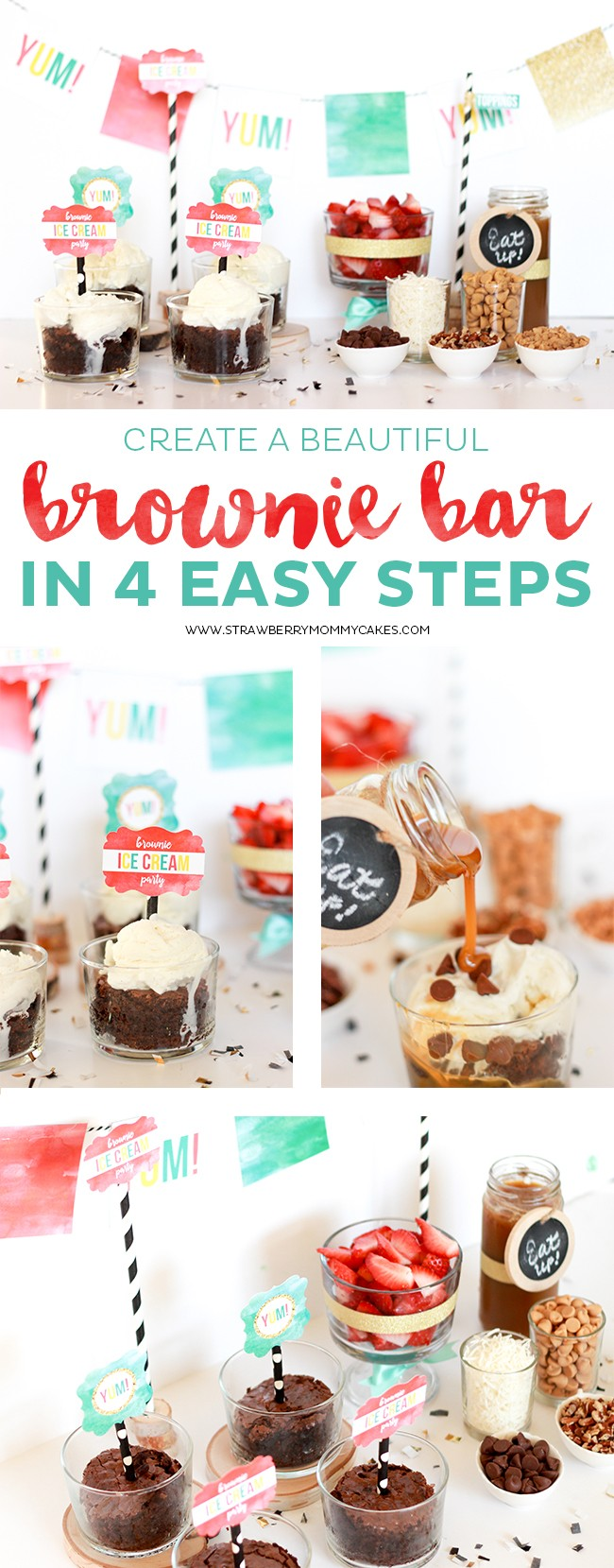Create a Beautiful Brownie Bar in 3 Easy Steps!