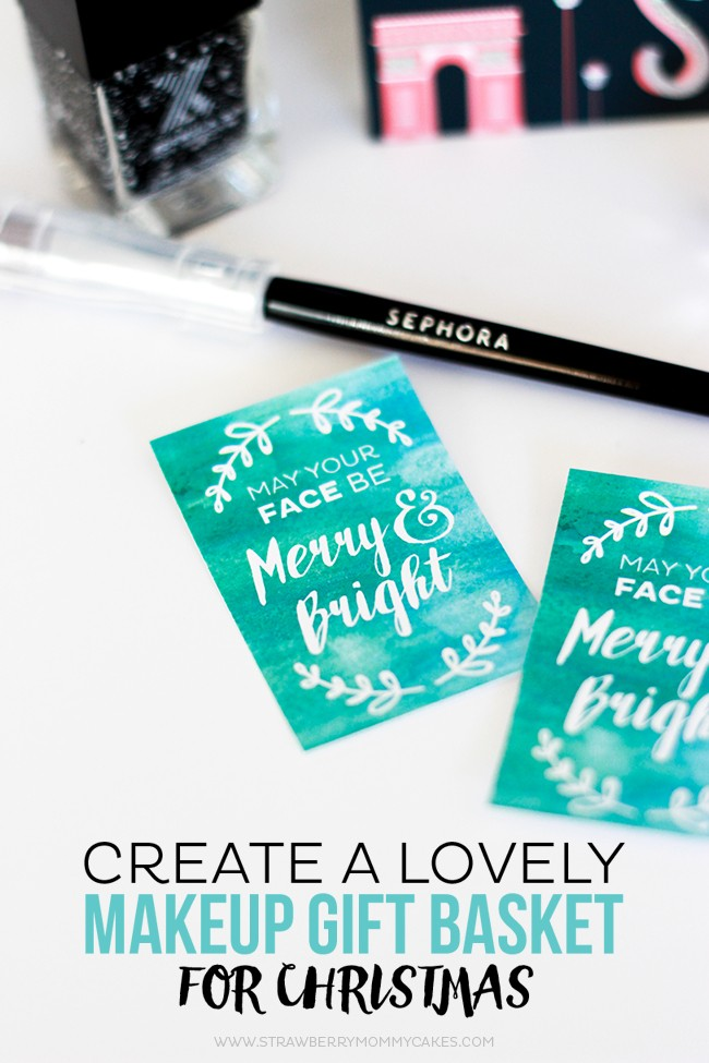 Create a LOVELY Makeup Gift Basket for Christmas