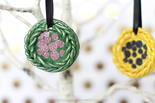 How to Make Your Own Christmas Tree Ornaments. These are made with polymer clay, FolkArt® Multi-Surface Paint and Modge Podge.
