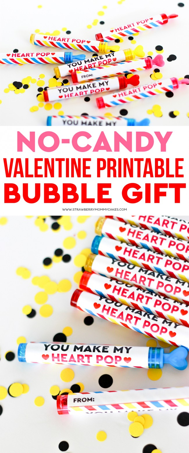 This No-Candy Valentine Printable Gift is SOOO cute and so fun, the kids won't even miss the candy!