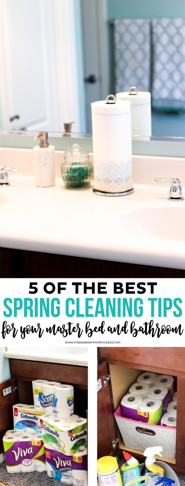 5 of the BEST Spring Cleaning Tips for your Master Bed and Bathroom