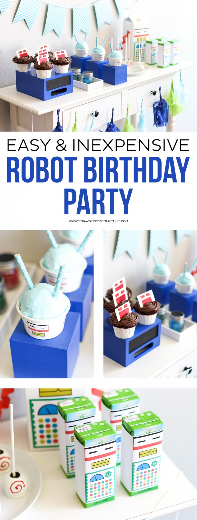 I threw this Easy and Inexpensive Robot Birthday Party for my son and it turned out SO cute! I pulled this together in ONE day and my son LOVED it!