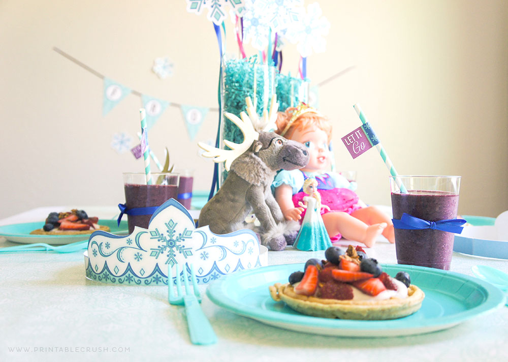 Frozen Waffle Party with Free Printables