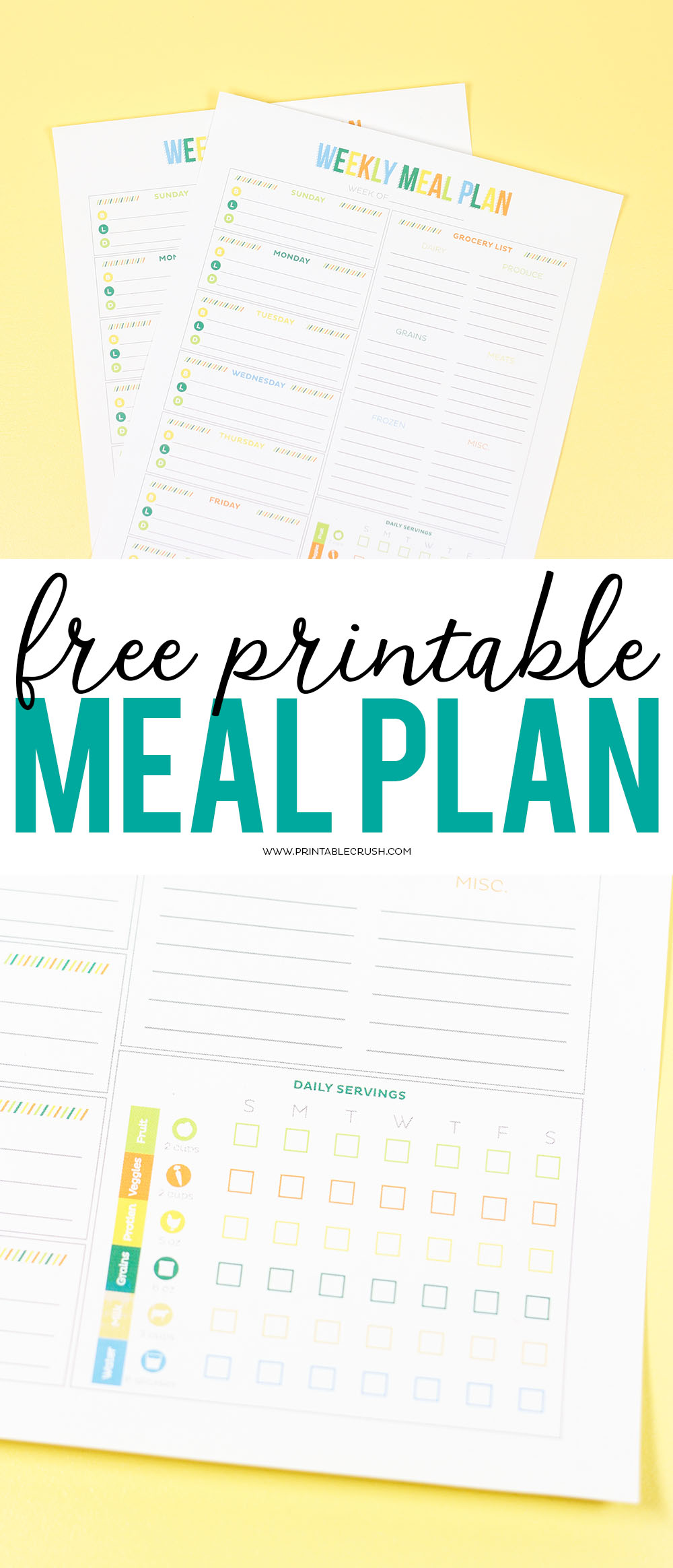 Download this free printable meal planner and health tracker.