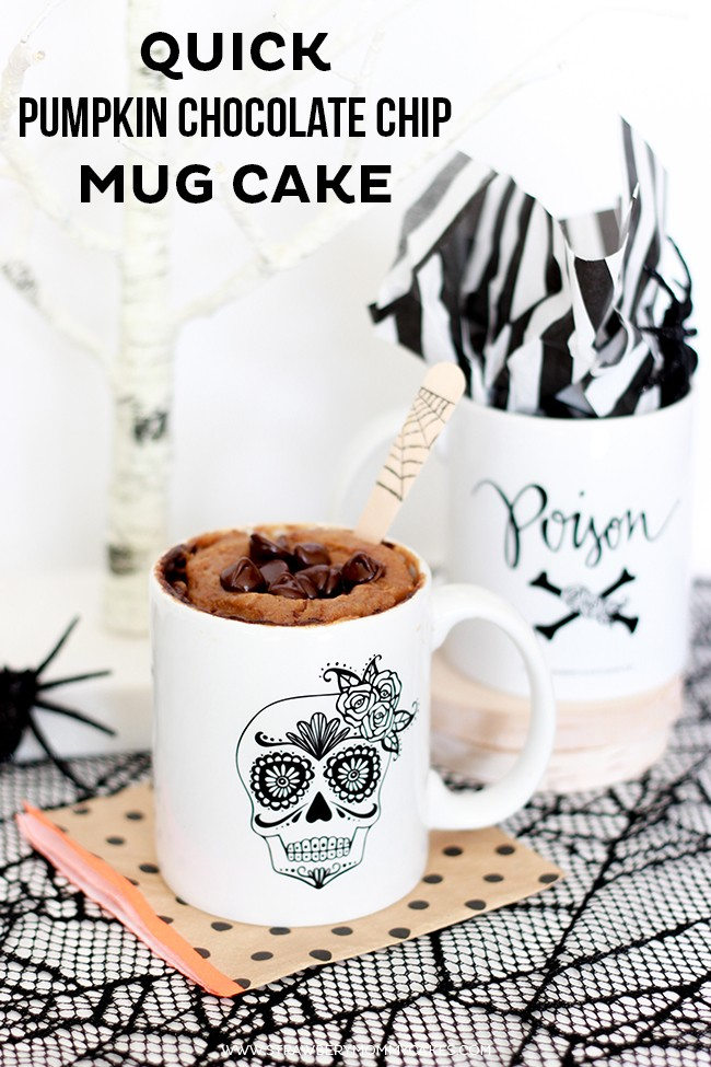 Quick Pumpkin Chocolate Chip Mug Cake
