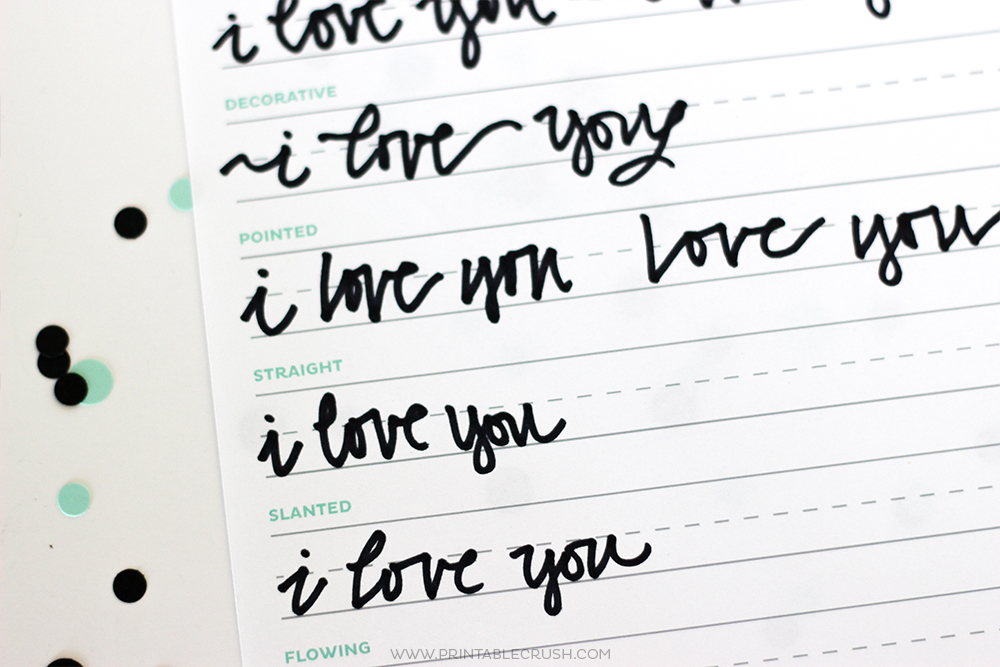 3 FREE Hand Lettering Worksheets for Beginners-9