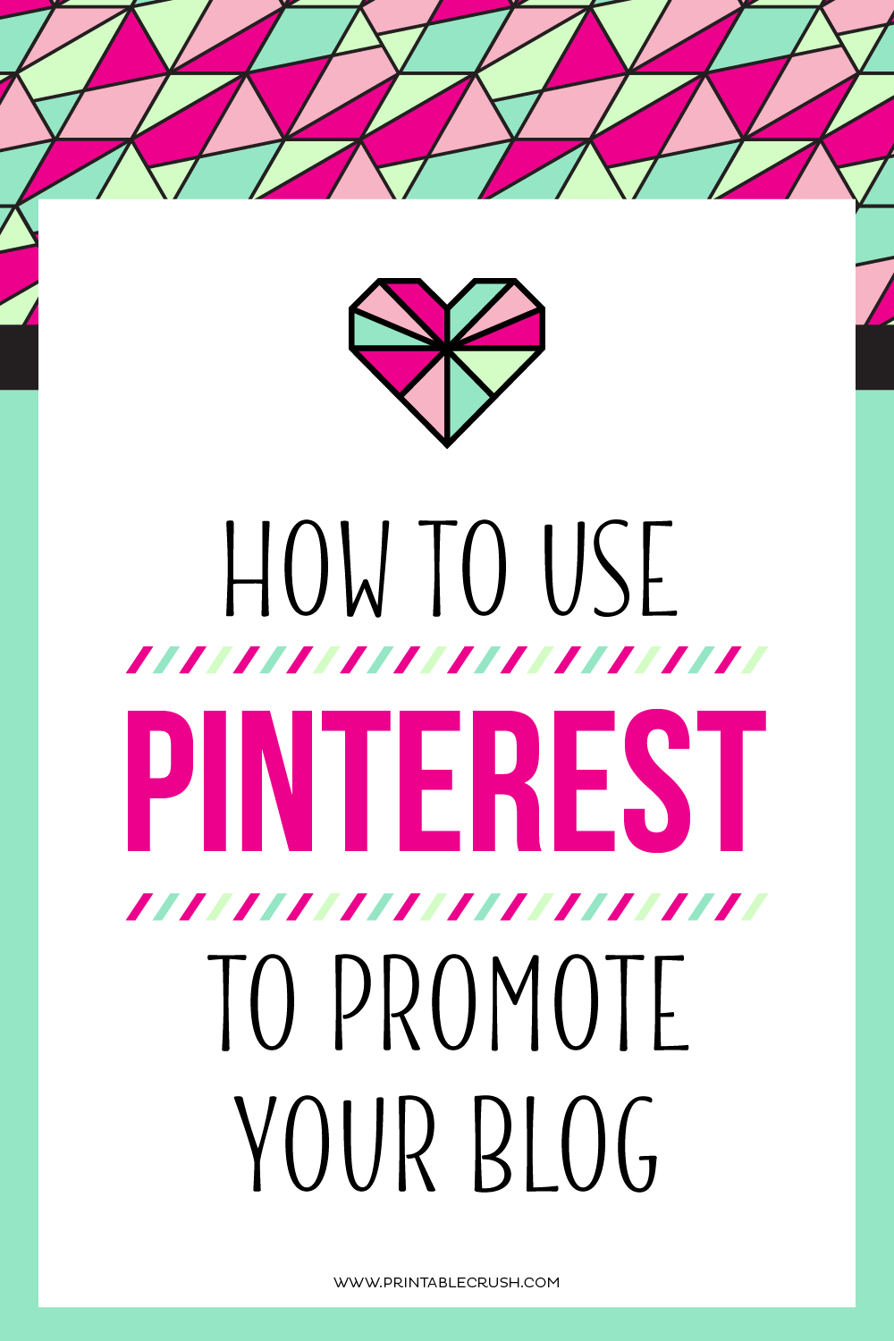 I receive 50% of my traffic from Pinterest. It is an amazing resource and you need it for your business! Learn How to Use Pinterest to Promote Your Blog.