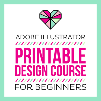 Adobe Illustrator Printable Design Course For Beginners