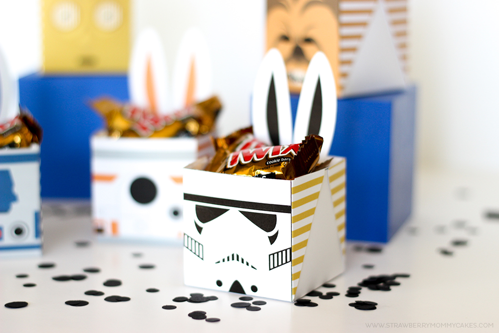 Stormtrooper bunny box filled with mini Twix
