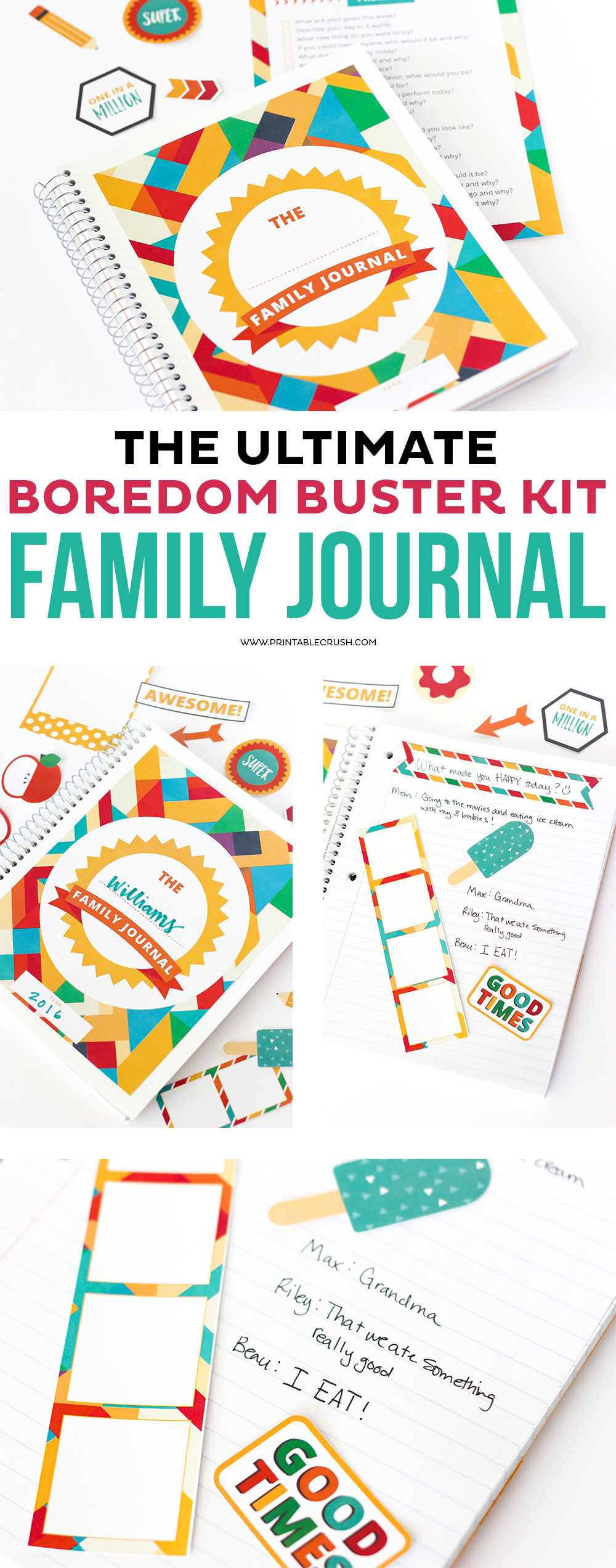 Get this ULTIMATE Boredom Buster Printable Set (from 10 amazing designers) and keep your kids entertained ALL summer long. You can thank us later!