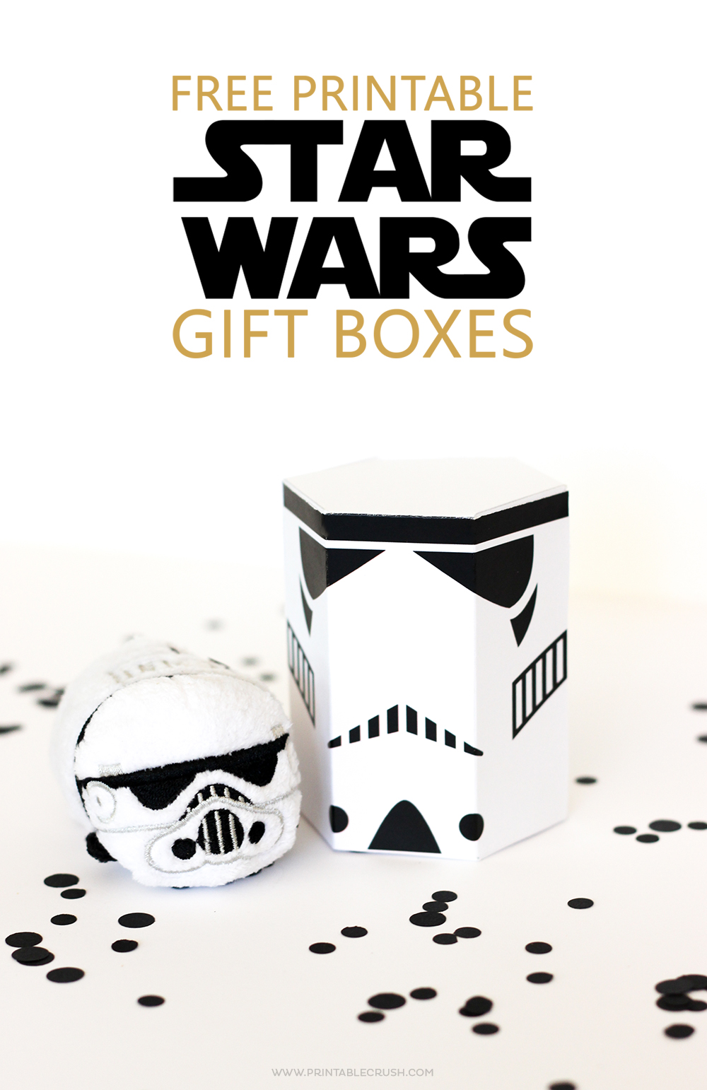 photograph about Star Wars Free Printable referred to as No cost Star Wars Printable Present Bins - Printable Crush