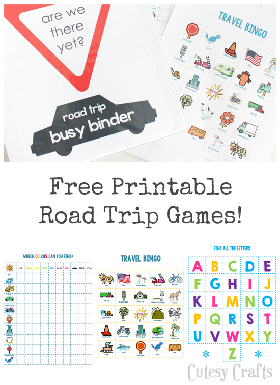 picture regarding Free Printable Road Trip Games known as 26 Highway Getaway Printables for Youngsters - Printable Crush
