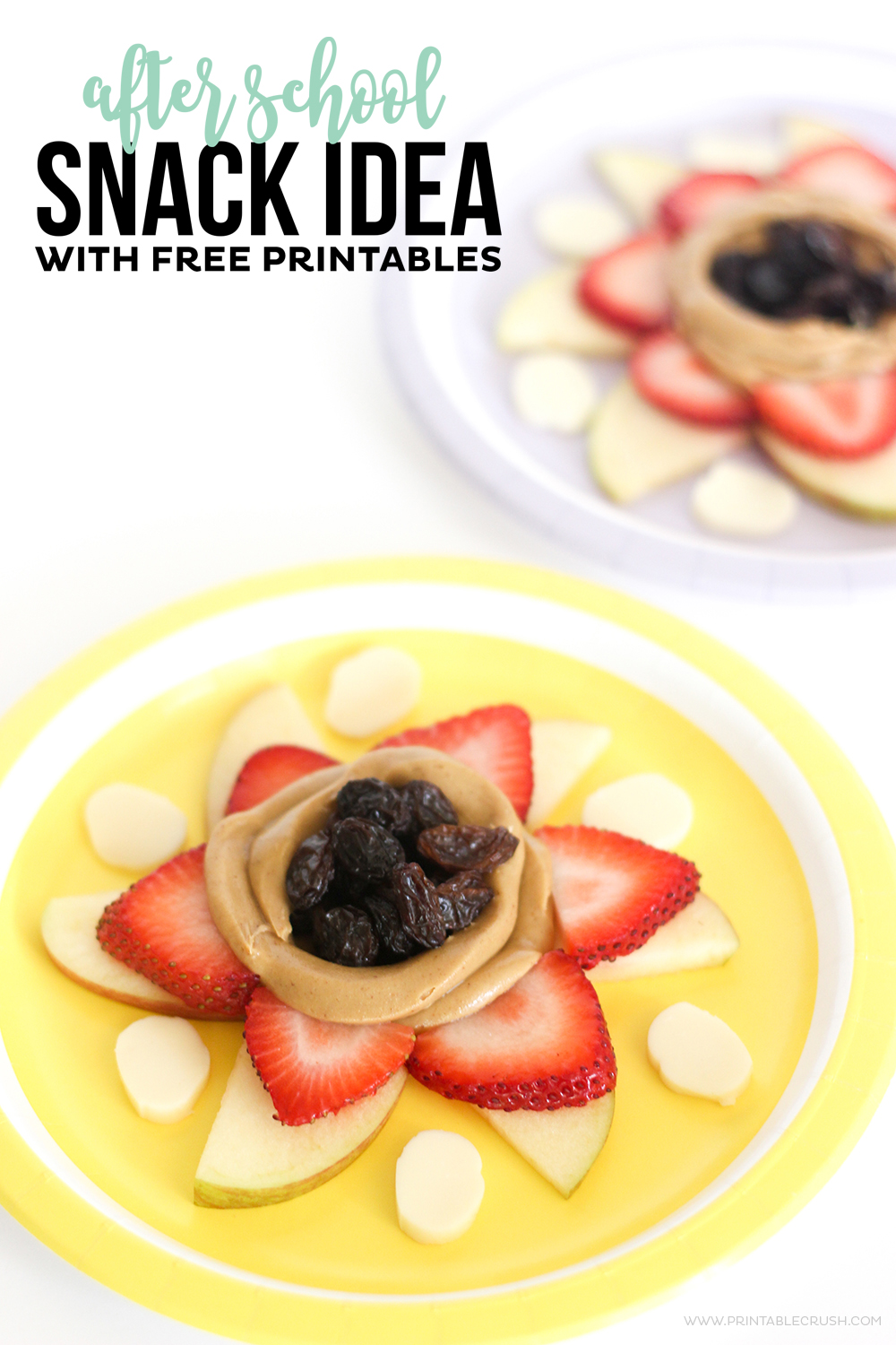 If your kids come home ravenous, they'll love this After School Snack Idea! While they're snacking have them fill out a fun FREE Printable for memory keeping.