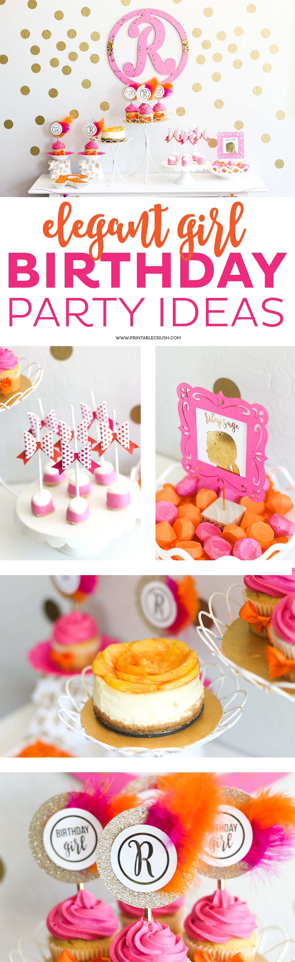 If your daughter is into all things girly and pink, you'll need these Girl Birthday Party Ideas! This party is so lovely and colorful and simple to put together!