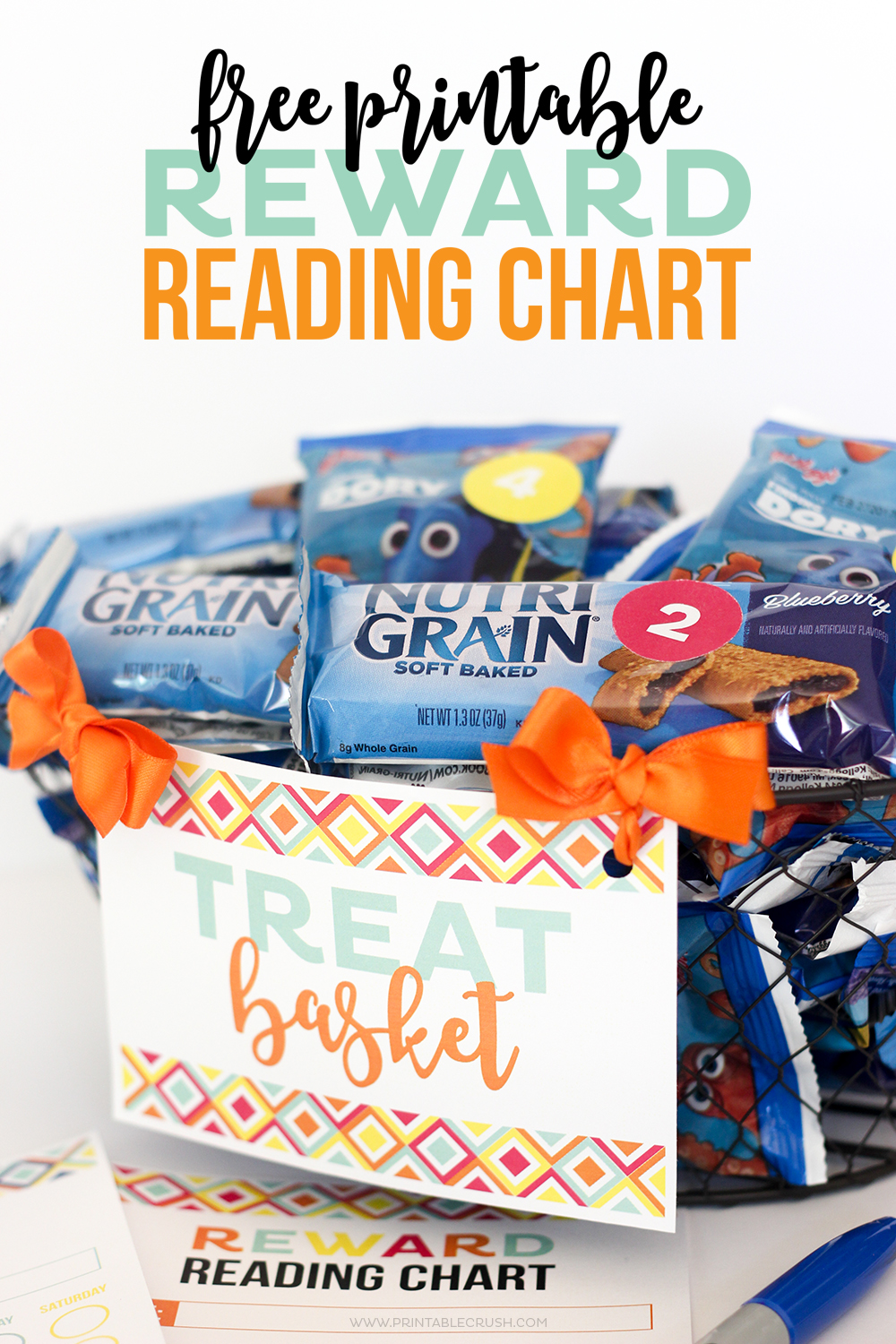 My kids ask for snacks ALL DAY LONG! I came up with a new system where they have to earn their snacks with this FREE Printable Reward Reading Chart!